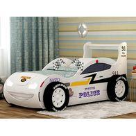 Кровать-машина Тачки Молния 3D Полиция